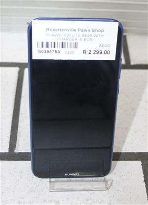 HUAWEI P20 LITE 64 GB WITH CHARGER IN BOX S039518A #Rosettenvillepawnshop