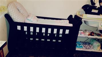 Big Modern wooden baby cot