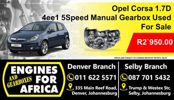 Opel Corsa 1.7D 4ee1 5Speed Manual Gearbox Used For Sale