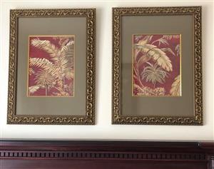 Stunning picture in elaborate gold frame. Size each frame 72 x 81.5cm. Price for both