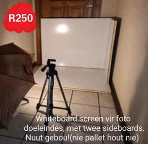 Whiteboard screen vir fotos