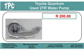 Toyota Quantum Used 2TR Water Pump For Sale.