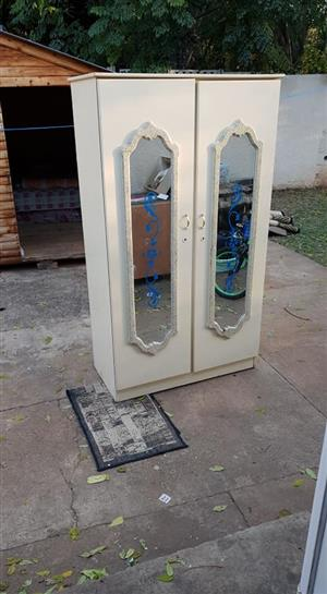 2 double draw wardrobe for sale.