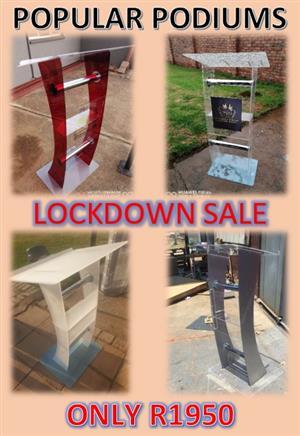 Popular Podiums Lockdown Sale