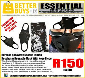 Huracan Nanowave Second Edition Respirator Reusable Mask With Nose   Piece R150  The Nano Wave mask