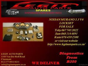 NISSAN MURANO 3.5 V6 LOCKSET  FOR SALE