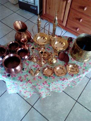 Copper and brass decor ware for sale