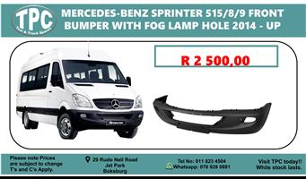 Mercedes-Benz Sprinter 515/8/9 Front Bumper With Fog Lamp Holes 2014-up - For Sale at TPC