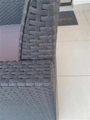 Rattan 4-seater Outdoor set for sale (cushions included)