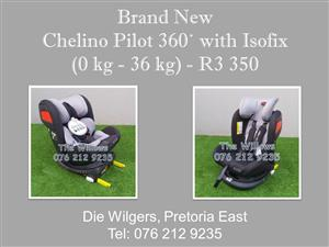 Brand New Chelino Pilot 360˙ with Isofix  0 kg - 36 kg)
