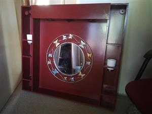 Wall dresser with mirror + lights