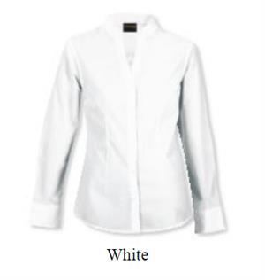 Ladies Barista Blouse Long Sleeve - White