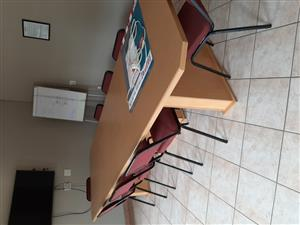 Board Room Table and 10 rickstacker chairs for sale