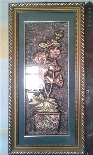 Geraamde blompot portret