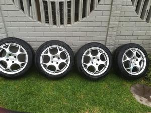 TSW VX1 Rims and tyres for sale