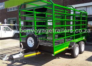 GREEN CATTLE TRAILER FOR SALE
