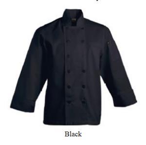 Savona Long Sleeve Chef Jacket - Black