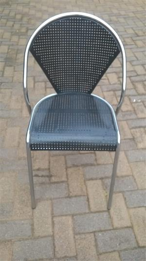 3 Aliminium chairs