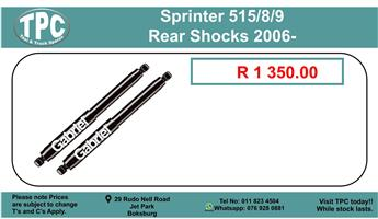 Sprinter 515/8/9 Rear Shocks 2006- For Sale.