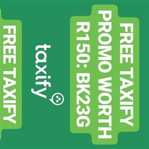 FREE TAXIFY PROMO WORTH R150: BK23G