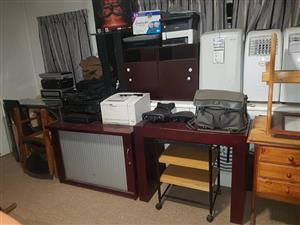 Large selection of aircons and printers