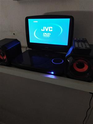 JVC PORTABLE RECHARGEABLE DVD PLAYER