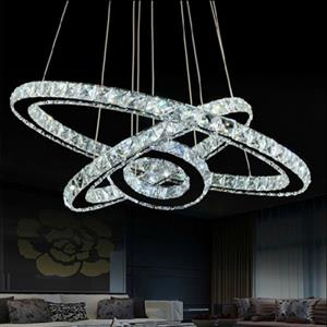 3 Ring Crystal LED Chandelier
