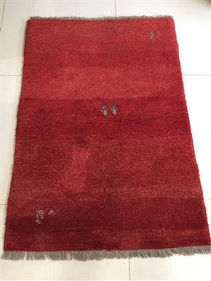 Stunning Red Iranian (Persian) Gabbeh – Hand made  A stunning Persian carpet to grace any floor