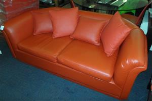 Two Seater Leatherlike Couch