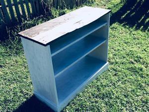 Repurposed bookshelf / tv unit for sale.