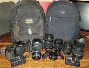 Canon cameras and lenses bundel