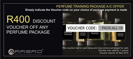 Start your own perfume business with your own branding - Here is R400 voucher to get you started
