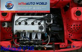 Imported used  RENAULT CLIO 2.0L, F7R engine Complete