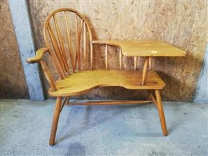 Oak telephone table for sale.