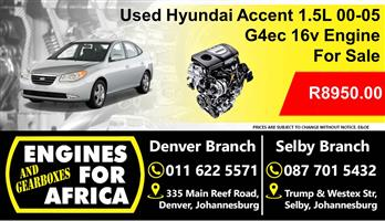Used Hyundai Accent G4ec 1.5L 00-05 Engine For Sale
