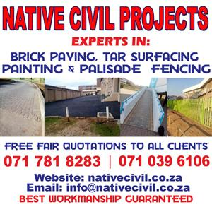 SITE CLEARING, LANDSCAPING SERVICES AND DEMOLITION.