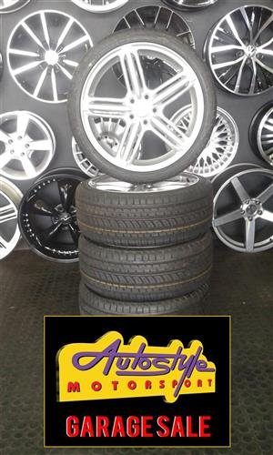 Clearance 17 inch VW AUDI 5-100 pcd set of 4 mags with 205-40-17 tyres.