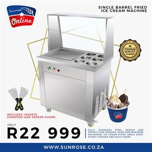 ROLLED ICE CREAM MACHINE FOR SALE , FRIED ICE CREAM MACHE FOR SALE