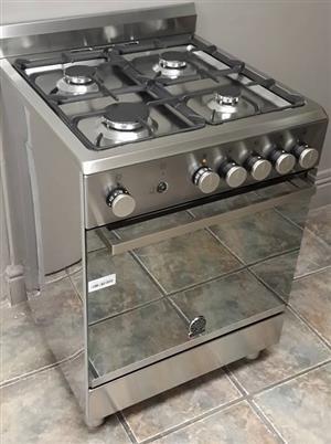 La Germania60cm Gas Hob & Gas Oven / Gas Grill Cast Iron Pot Rests -S/S