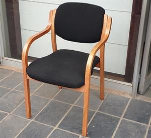 Pre-owned 4 Legged visitors chairs in black fabric