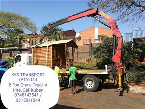 KYS TRANSPORT ; 8 TON DROPSIDE HIRE & 8 TON CRANE TRUCK HIRE