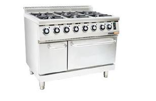 GAS STOVE WITH ELECTRIC OVEN ANVIL - 6 BURNER-COA4006