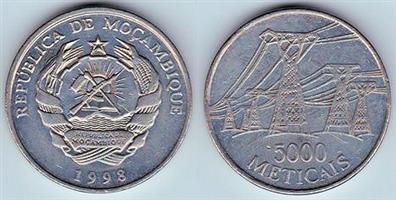 5000 METICAIS  REPUBLICA DE MCAMBIQUE Coin