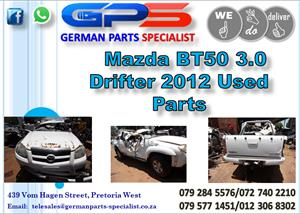 Used Mazda BT50 3.0 Drifter 2012 Parts for Sale