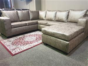 Brighton Buffalo Suede lounge suite  WAS R 12345 NOW R 9495