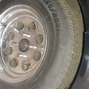 13 ins mag and tires 108 pcd to swap for mags and tire 13 ins 108 pcd