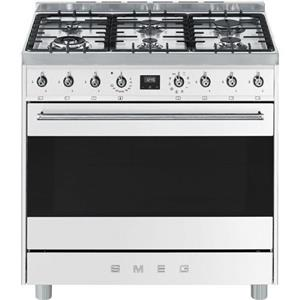 PRICE DROPPED ON SMEG WHITE 6 BURNER GAS HOB - C9MABSSA9