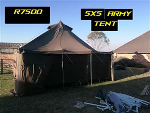 5 x 5 army tent