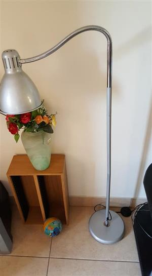 Large silver adjustable lamp for sale