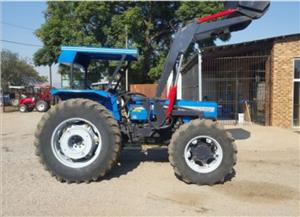 S2832 Blue Landini 8860 With Front Loader Laaigraaf 60kW/80Hp 4x4 Pre-Owned Tractor